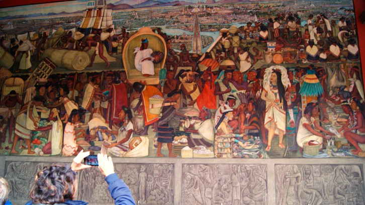 Diego Rivera at the National Palace