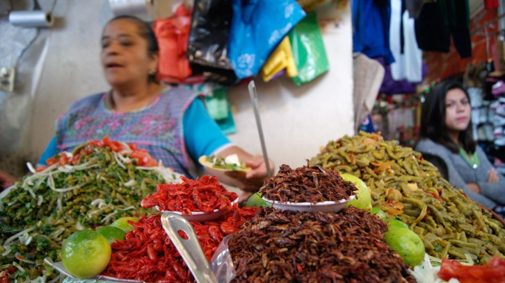 Traditional flavors in the market of Xochimilco