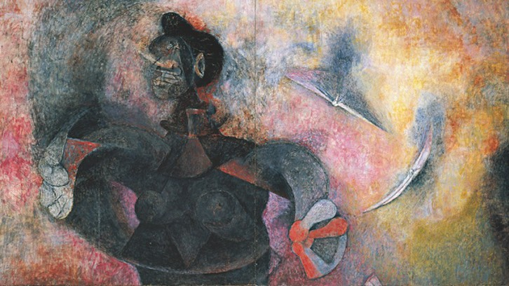 """Homage to the Indian race"" by Rufino Tamayo"