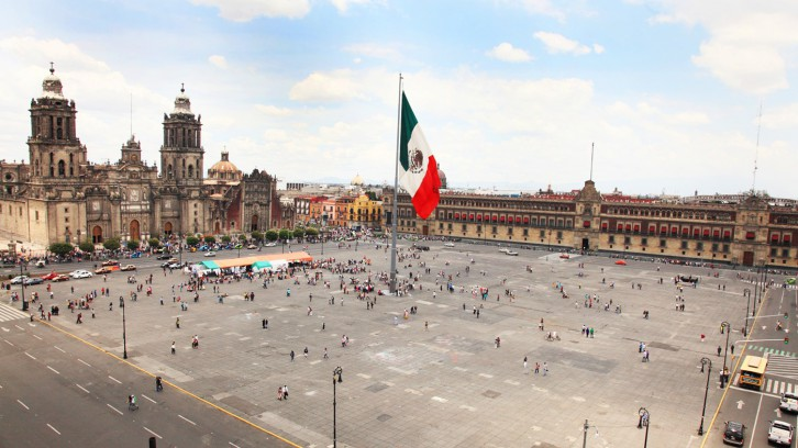 The Zocalo, the heart of the metropolis